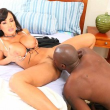 Black guys licking pussy Lisa Ann