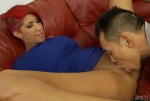 Asian man pussy eating
