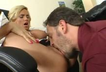 Lick vagina busty boss