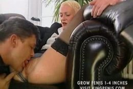 Licks pussy mature german blonde in a chair