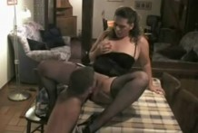 BBW German woman dominates an obedient man