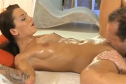 Beautifully pussy licked to orgasm